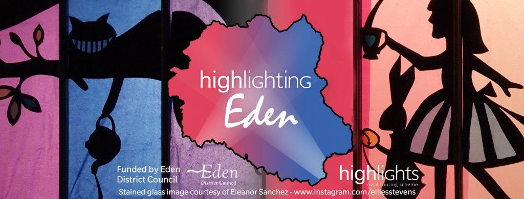 Highllighting Eden Banner featuring artwork by Eleanor Sanchez